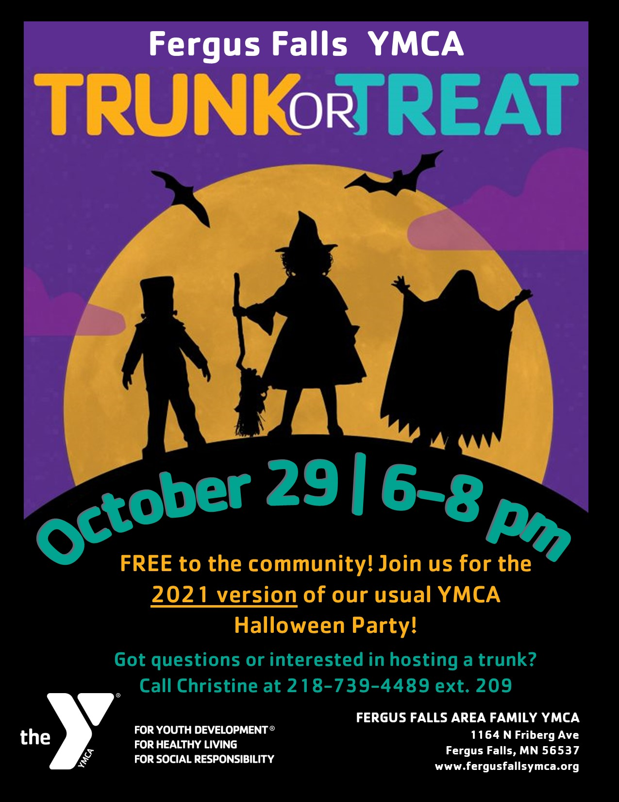 Trunk or Treat at the YMCA--October 29